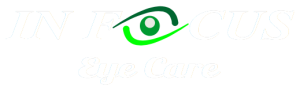 In Focus Eye Care white logo