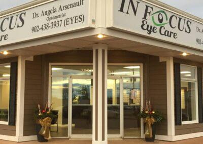 Exterior of In Focus Eye Care, Summerside, PEI