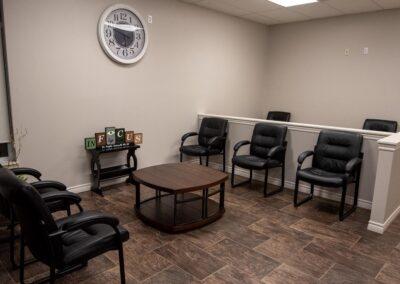 Customer seating at In Focus Eye Care, Summerside PEI