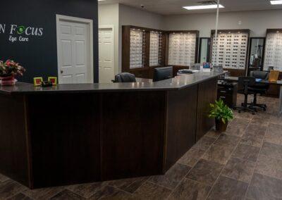Interior of In Focus Eye Care, Summerside PEI