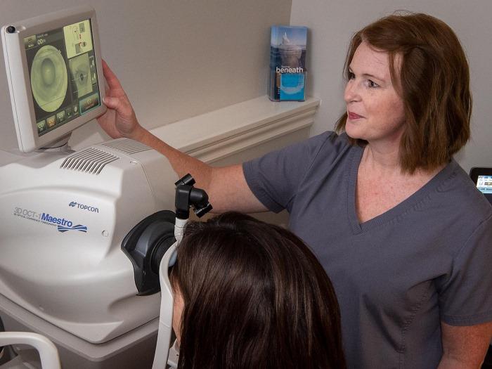 eye examination at In Focus Eye Care